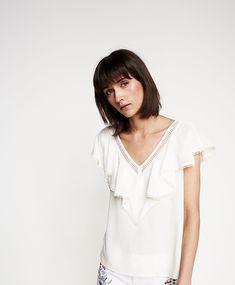 Blusa folho (branco): SPRINGFIELD (22,99€)