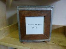 Gisela Graham Wooden Photo Frame Storage Cube 4 x 4 10 x 10 cm
