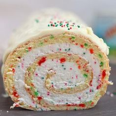 Christmas vanilla roll cake recipe