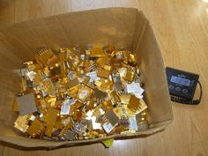 High Yield Metal Scrap Gold Recovery Gold Pin Board From Phone System 3 lb