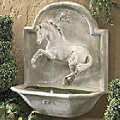 Frolicking Horse Garden #Fountain