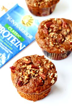 These healthy banana nut protein muffins pack a major protein punch and they're loaded with warm flavors of cinnamon banana and maple syrup.