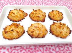 2-Ingredient Coconut Macaroons...crispy on the outside, chewy on the inside and so yummy!!!  by The Fountain Avenue Kitchen