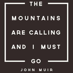 If you love taking  trek through the woods, this inspirational typographic print from John Muir is perfect for you.