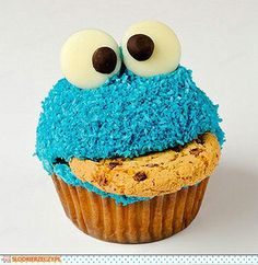 ♥Cupcake cookie monster♥