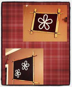 #myproject #wallart #diy #bamboo frame #3d #flowers #trivets