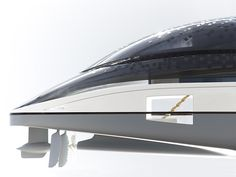 Sustainable yacht concept. Creative direction by Alfred van Elk for Feadship. Design by de Voogt Naval Architects. Stern detail.