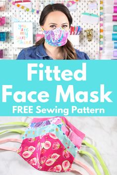 Sew a Close-Fitting Fabric Mask with Bias Tape or Elastic and a Flexible Nose Wire. # Sew a Close-Fitting Fabric Mask with Bias Tape Sewing Patterns Free, Free Sewing, Sewing Tutorials, Sewing Hacks, Sewing Crafts, Sewing Tips, Dress Tutorials, Coat Patterns, Skirt Patterns
