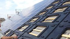 GSE Integration Integrated Solar PV Mounting System Install in 2020 Solar Energy Panels, Solar Energy System, Solar Roof Tiles, Passive Solar, Solar House, Solar Water, Sustainable Energy, House Roof, Architecture Details