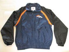 NFL Denver Broncos Windbreaker Jacket size L #DenverBroncos