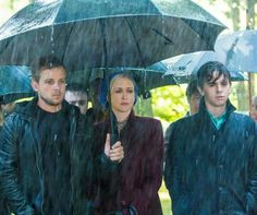 Bates Motel - Dylan, Norma, and Norman