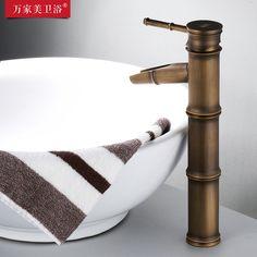 全铜仿古铜色台上盆竹节水龙头 面盆混水单孔陶瓷盆冷热水龙头