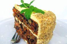Mrkvový dort s krémem z Mascarpone neboli Carrot cake Pečeno v dortové formě o průměru 22 centimetrů. Korpus 500 g očištěné m...