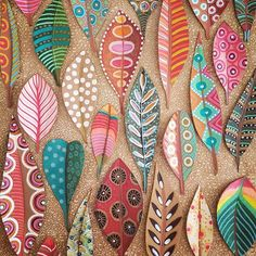 Autumn Crafts, Holiday Crafts, Mummy Crafts, Feather Dream Catcher, Dream Catchers, Flower Festival, Pen And Watercolor, Painted Leaves, Leaf Art