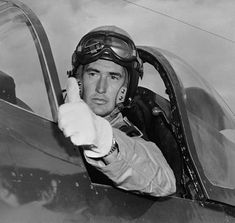 Ted Williams                The legendary Boston Red Sox player served as a pilot during World War II and the Korean War. Here, prepares to ...