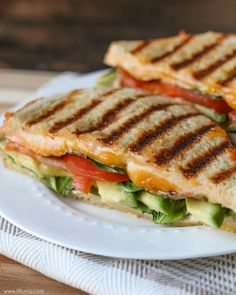 ... sandwich recipes filled with cheese, tomatoes, avocado and spinach