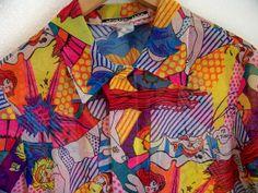80's // 90's SHEER Crazy Comic Club Kid Sheer by DaizyLemonade