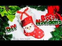 Bota o calcetín navideño en foamy o goma eva | DIY Especial Navidad - YouTube
