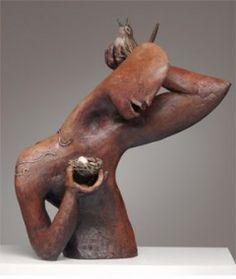Ceramic Sculpture (unattributed, on a site dedicated to ceramic sculpture! very sad. lovely piece.)