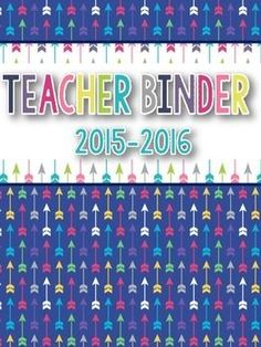 FREEBIE! This 2015-2016 teacher binder set includes 2 binder covers, 19 dividers(1 blank). This set is not editable. Graphics by Teaching Super PowerFonts by Kimberly Geswein =======================================================Looking for fun and inf