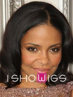 Natural Mid-length Remy Human Hair Full Lace Wig http://www.ishowigs.com/natural-mid-length-remy-human-hair-full-lace-wig.html