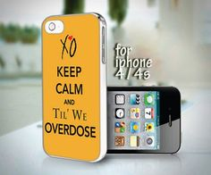 Weeknd Gold Keep Calm Overdose XO Drake design for iPhone 4 or 4s case