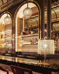 Home Bar with fridge Home Bar Designs, Best Kitchen Designs, Modern Kitchen Design, Bar Lounge, Lounge Design, Art Deco Bar, Cocktail Bar Design, Cocktail Bar Interior, Home Cocktail Bar
