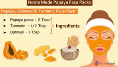 Experience a soothing papaya facial using the best papaya face packs for skin whitening, to get rid of pigmentation, pimples & lot more. Papaya Face Pack, Papaya For Skin, Papaya Facial, Natural Acne Remedies, Skin Care Remedies, Health Remedies, Homemade Face Masks, Homemade Skin Care, Natural Remedies