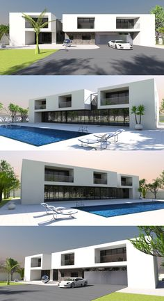 Contemporary house plan designs for the self-builder. We offer totally unique and inspiring modern designs for stunning new contemporary residences, to give your dream home the best possible start. Contemporary House Plans, Modern House Design, Home Design Plans, Plan Design, Maids Room, Bedroom Suites, Yacht Club, Luxury Homes, Laundry