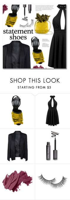 """""""Double Take: Statement Shoes"""" by fshionme ❤ liked on Polyvore featuring Marco de Vincenzo, Bobbi Brown Cosmetics, Forever 21, StreetStyle, Spring and statementshoes"""