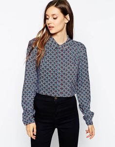 Warehouse Geo Cropped Boxy Shirt