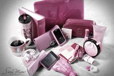 feminine and pink