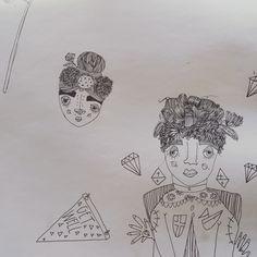 Girls #karlysmith #illustration #pen #paper