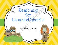 Distinguishing between the short and long vowel sounds can be difficult for some children. Your students will learn and have fun searching their classroom for cards during this vowel 'E' sorting game. After finding the cards, they need to sort the words into the proper column on the recording sheet.  Contents: direction card 36 picture cards 36 picture cards with words recording sheet  Enjoy!  Rochel Koval