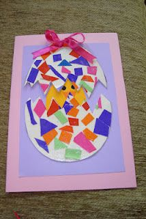 easter card.....could use shapes for egg part