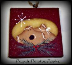 Primitive Gingerbread Ornament