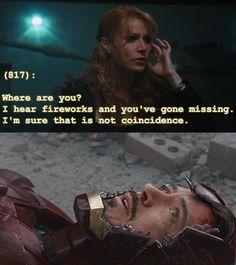Texts From the Avengers. NO, Tony... Tony, no...