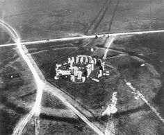The first known aerial photograph of an archaeological site, taken during the summer of 1906 from a balloon