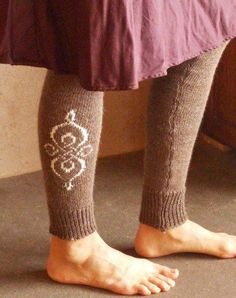 Made to order  Long alpaca leg warmers  knit par Woollywhotknots