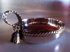 1957 Silver Plated Bowl by MARIA PERGAY - coupe vide-poche circulaire