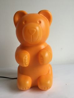 """Haribo bear"" lamp, 80s. | Lampka ""Miś Haribo"", lata 80. | buy on Patyna.pl | #forsale #vintage #vintagefinds #vintageshop #vintagelove #retro #old #design #home #midcenturymodern #want #amazing #home #inspiration #kitchen #decoration #furniture #orange #lamp #light #haribo #bear #fun #color #child #80s #1980s #vintagerarytas Vintage Love, Vintage Shops, Retro Furniture, Midcentury Modern, Terracotta, Children, Kids, Bear, Orange"