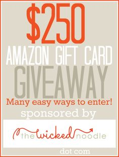 $250 Amazon Gift Card Giveaway! Just comment and you're entered! {Prize will be awarded in time to order Christmas gifts}