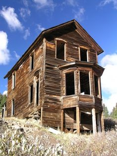 Near Ouray Colorado, this actually in a little town names Animas Forks. Its between Silverton and Ouray. One of my favorite spots, my family loved this old building.