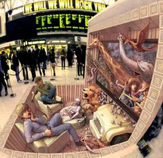 Kurt Wenner's 3D Wonderlands