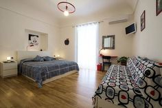 Red Room double/triple design ensuite bedroom #bedroom #palermo #sicily #accomodation #travel #italy