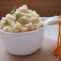 Cauliflower and goat cheese puree