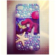 The Little Mermaid Case by DecoGlammed on Etsy, $30.00