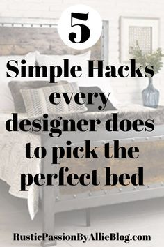 These are 10 of the most affordable farmhouse bedroom sets of all time. Plus 5 interior design tips to create the coziest bed. Bedroom Design On A Budget, Guest Bedroom Decor, Bedroom Sets, Bedroom Wall, Bedroom Furniture, Farmhouse Bedroom Set, Modern Farmhouse Decor, Rustic Modern, Rustic Farmhouse