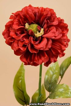 "28"" ZINNIA SPRAY RED - GandGwebStore.com"