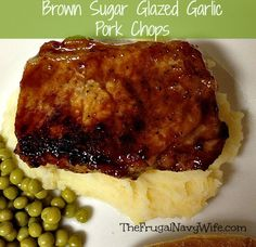 Brown Sugar Glazed Garlic Pork Chops - The Frugal Navy Wife